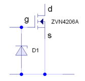 Fig 1 Use of a zener diode to provide protection from electrostatic discharge