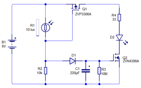 Fig 7 Automatic night light